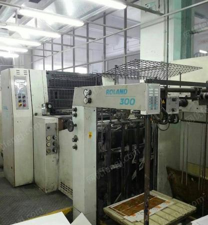 深圳转让罗兰300,99年5色电脑酒精印刷机