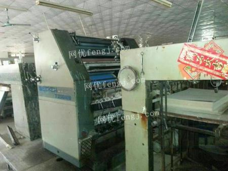 深圳转让北人04年2204对开双色胶印机