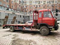 出售九成新小型挖掘机平板运输车