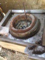 九成新煤炉自带鼓风机出售
