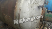 山东出售3吨不锈钢反应釜,10几公斤压力