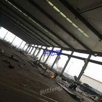 低价供应二手一万平方钢结构厂房立柱400-250和500-280,高度10米货在湖南