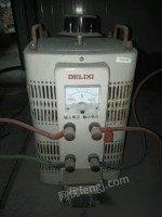 转卖二手一套接触调压器和控制变压器