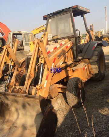 市场商家回收二手凯斯580L挖掘装载机