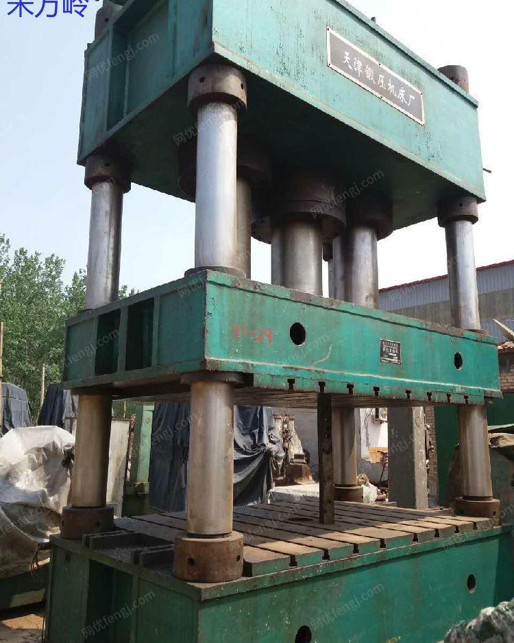 出售二手四柱液压机1000t,天津锻压机床厂.2003年