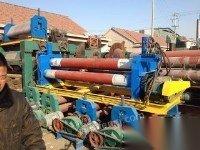出租出售12x2000液压卷板机(40吨滚轮架)