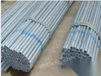 供应一寸钢管,热镀的,厚度2个米,共127根,46方管镀锌带的 47根