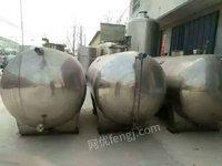 出售不锈钢卧式储罐、鲜奶运输罐、玻璃钢罐、搅拌罐