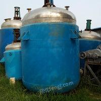 出售精品不锈钢反应釜,搪瓷反应釜,1吨至10吨