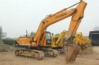处理旧现代215-9挖掘机