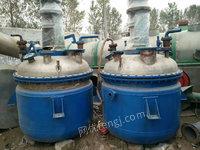 常年出售不锈钢反应釜、不锈钢搅拌罐、搪瓷反应釜