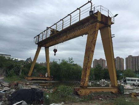 出售二手18米三十二吨双梁龙门吊