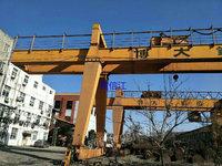 出售A 型20/5T-22m龙门吊,悬臂各10m成色新,在位,货在南京,手续齐全