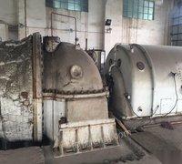 供应工厂倒闭汽轮发电机组,3个锅炉