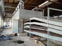 出售二手胶合板设备,台湾产9节4层辊筒式单板干燥机