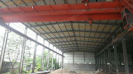 出售二手钢结构厂房柱子250×500 行车梁250×500 柱子高度10.5米