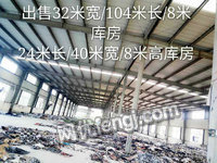 出售24米长40米宽8米高钢结构库房