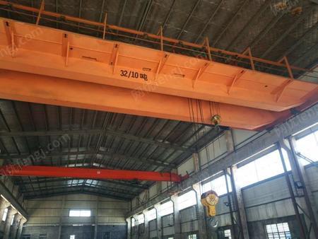 出售二手在位低价处理32/10吨桥式双梁行车天车