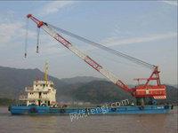 处理库存二手昌海工186浮吊船、100T起重能力
