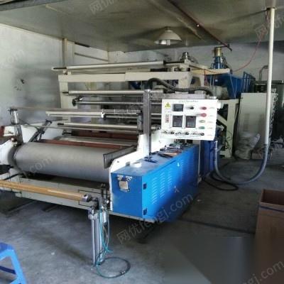 转让拉伸膜厂整厂设备,包含主机,吸料机,拌料机等