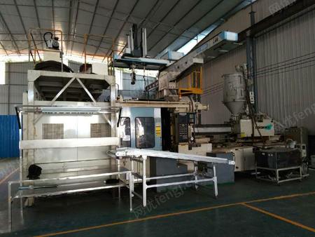 低价出售一台二手三菱原装进口1300吨两板注塑机,配备日本星精(start)5轴机械手一台