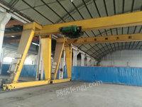 低价转让龙门吊10吨22米室内龙门两台