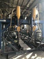 出售天津 华远牌钢结构生产线:4米数控直条切割机、1.8米组立机、2台4米龙门焊