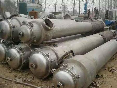 出售新到一批3-5-8吨三效/四效蒸发器、冷凝器、换热器