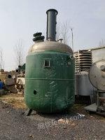回收闲置二手搪瓷反应釜3000L反应釜3吨 5吨