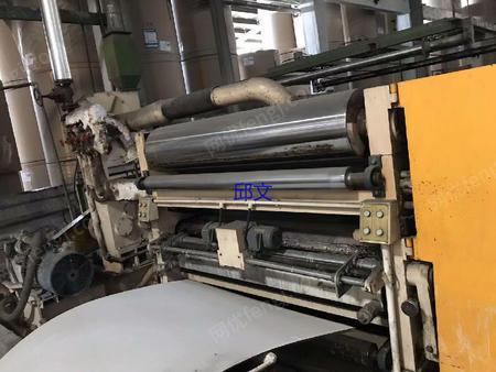 出售1.6米万联E愣单面瓦楞机生产线一套