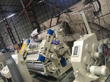 出售1.6米万联F愣单面瓦楞机生产线一套