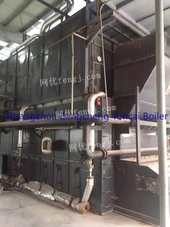 Selling used 10T biomaterial fuel&steam boiler