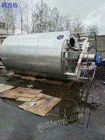 江西九江出售5000升二手发酵罐、二手奶罐等