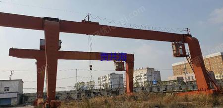上海松江工地出售L型龙门吊20/5T-27米各悬8米1台