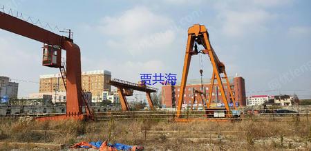 上海松江工地出售双主梁龙门吊32/5T-25米无外悬1台