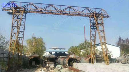 出售花架龙门吊  5吨跨度22.18米悬4/4米, 有效高度7米2台