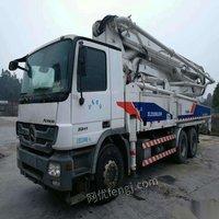 处理库存二手中联重科49x-6rz混凝土泵车(中联奔驰47米泵车)