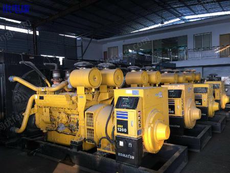 供电康出售日本进口:小松 1100KVA发电机组