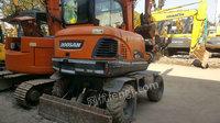 出售斗山DX60W-7轮式挖掘机