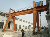 低价出售32/10吨 双主梁龙门吊行车 跨度14米各悬5米   总长24米左右