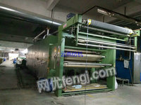 出售惠盛平网印花机,8一14色,门幅2米。蒸气和天然气加热各一台
