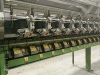 出售气流纺纱 出售德国赐莱福绿漆SE11型288锭气流纺纱机6台,仓库大量配
