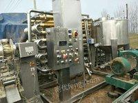 低价出售二手4吨列管式杀菌机食品级设备