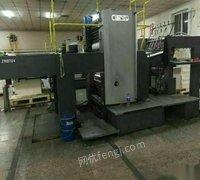 出售闲置二手上海紫明940b型对开高速双面胶印机13年