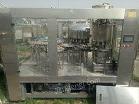 出售二手24—24—8型常压冲洗灌装封口三合一体机组