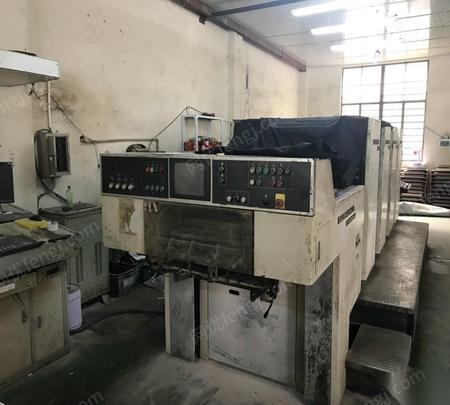 因拆迁,出售06年上海光华PZ4650D-PC1四色四开机印刷机