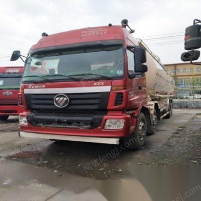 转让15年二手欧曼ETX前四后八水泥罐车48立方国四车可提供空车配货