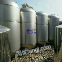 Sell 10 cubic meters of used stainless steel tank