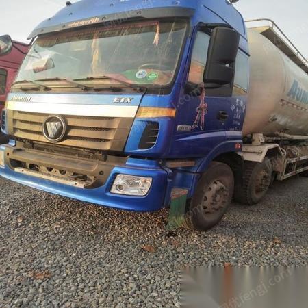 处理旧14年欧曼水泥罐车45立方国四车手续齐全保证原装车-山东山东