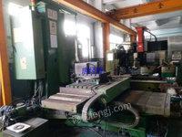 便宜出售台湾亚威VP2012数控龙门加工中心齿轮头两线一硬发那科18iMB系统